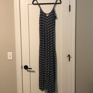 Brand: Puella striped maxi dress (Anthropologie).